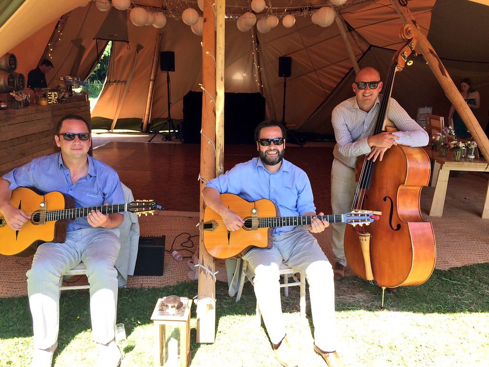 Jonny Hepbir Trio At A Tipi Wedding In Hastings East Sussex
