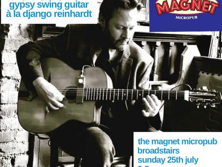 Jonny Hepbir Solo Gypsy Jazz Guitar At The Magnet Broadstairs Kent | Hire Jonny Hepbir For An Event