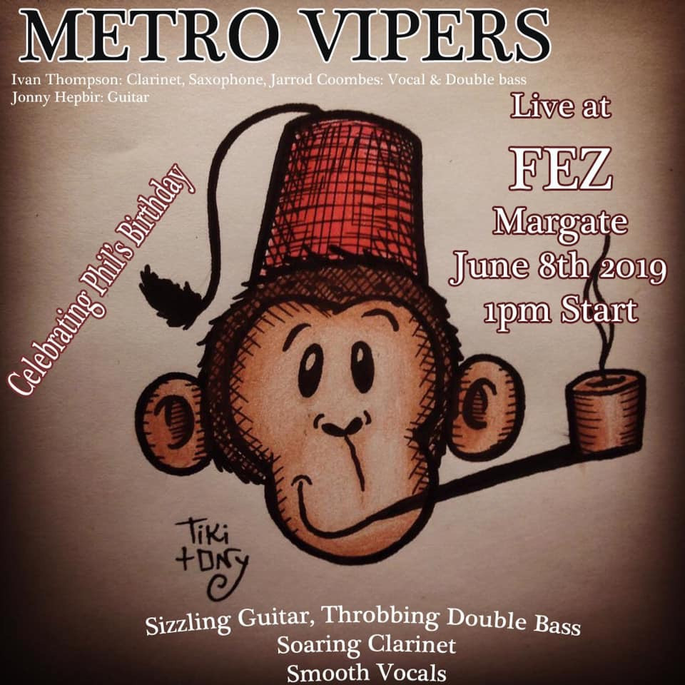 Metro Vipers Live At Fez Micropub Margate Kent Saturday 8th June 1pm