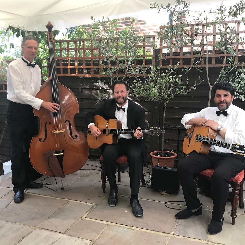 Parisian Swing Trio At A Corporate Event For Wimbledon Tennis In London