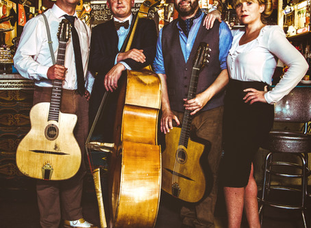 Vintage Jazz Band Hire | Jonny Hepbir Gypsy Jazz Quartet New Video 'Caravan' Filmed In Margate Kent