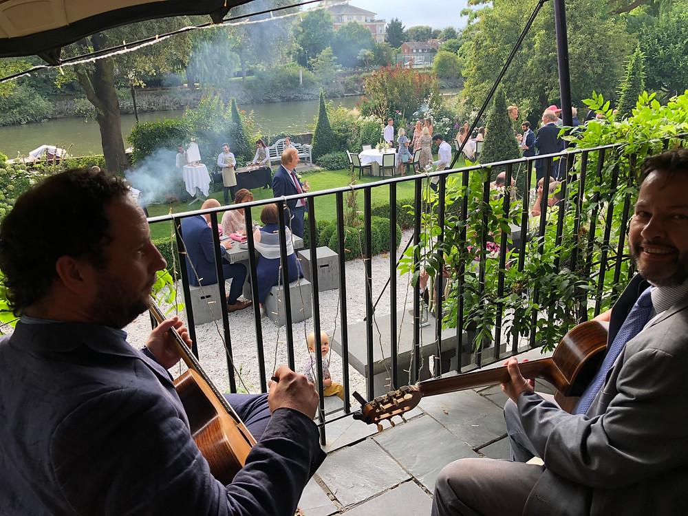 Jonny Hepbir Gypsy Swing Trio Wedding At The Bingham Hotel In Richmond-Upon-Thames London