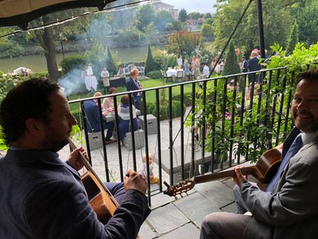 Jonny Hepbir Gypsy Swing Trio At The Bingham hotel wedding in richmond-upon-thames