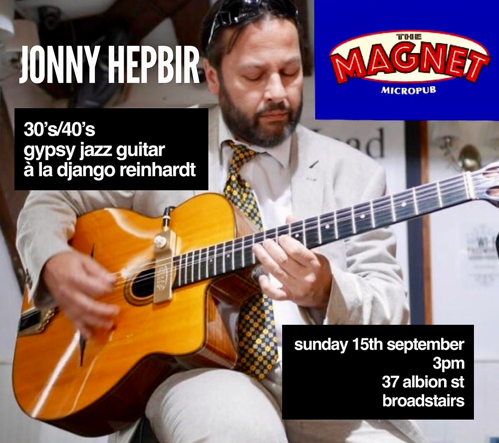 Jonny Hepbir Solo Gypsy Jazz Guitar At The Magnet Micropub Broadstairs In Kent 15th September
