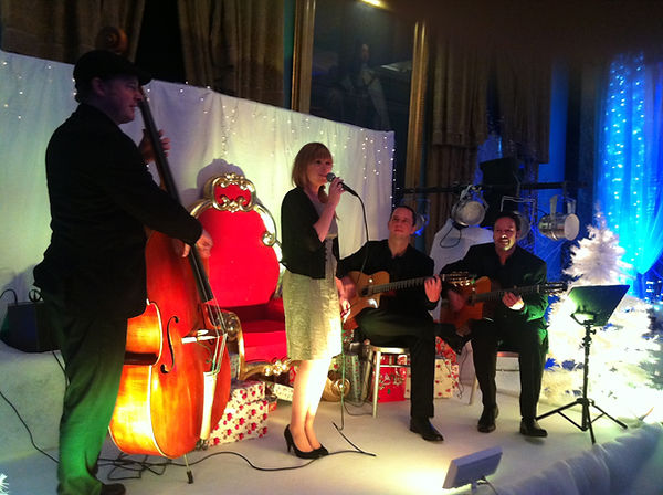 Jonny Hepbir Gypsy Jazz Band at Sir Paul McCartney's Christmas Party in London