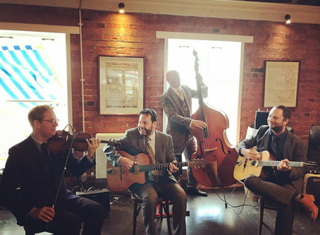 Whitstable Kent Jazz Band Hire | Jonny Hepbir Gypsy Swing Quartet At East Quay Venue