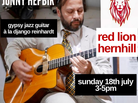 Jonny Hepbir Live At The Red Lion Hernhill Kent 18th July | Hire A Gypsy Jazz Guitarist For An Event