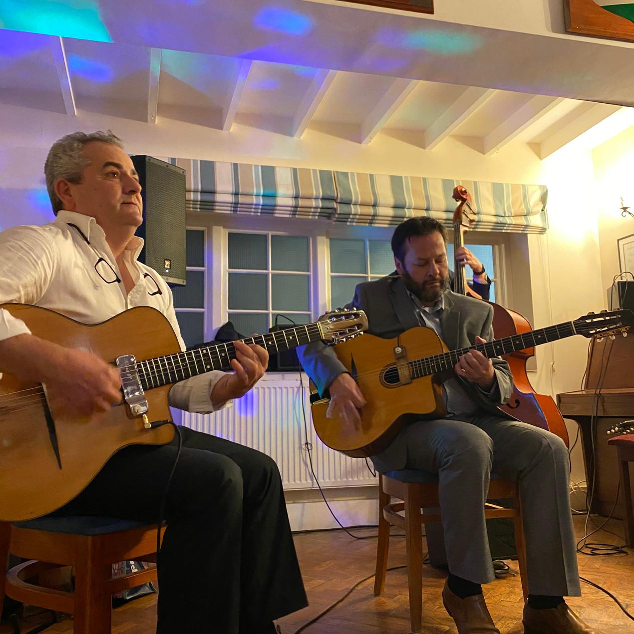 Jonny Hepbir Jazz Trio At A Wedding In Itchenor Sailing Club Near Chichester