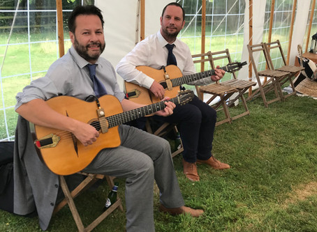 Canterbury Jazz Band Hire | Jonny Hepbir Gypsy Jazz Duo At Top Music Industry Songwriter's Wedding