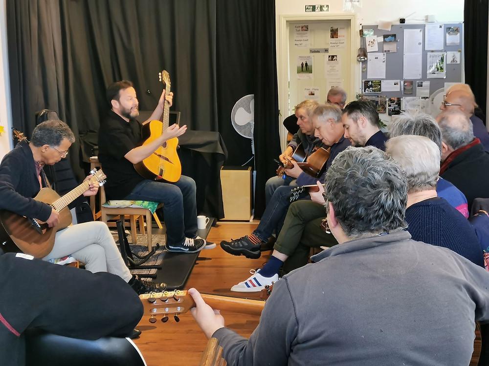 Jonny Hepbir Gypsy Jazz Workshop At Rosslyn Court In Margate Kent