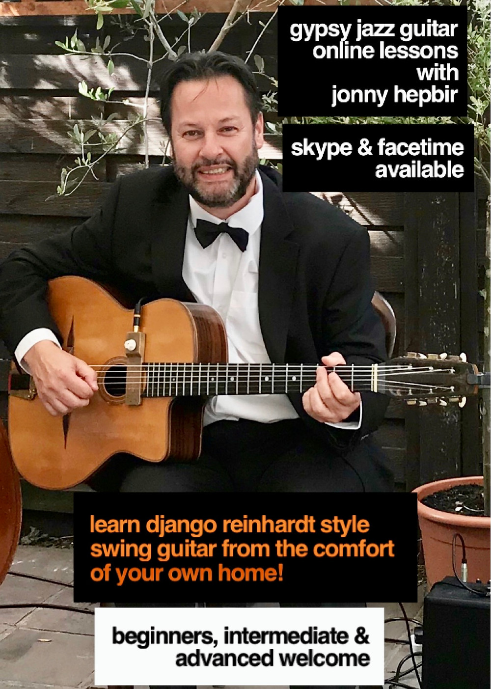 Gypsy Jazz Guitar Skype And Facetime Lessons With Jonny Hepbir