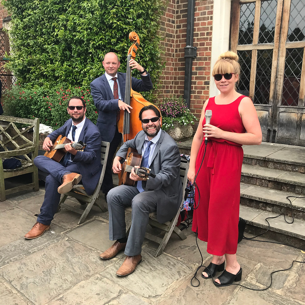 Jonny Hepbir Parisian Swing Quartet At Great Fosters Hotel In Egham Surrey