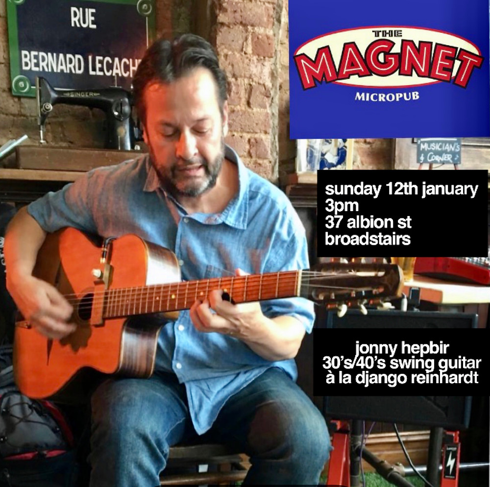 Jonny Hepbir Solo Gypsy Jazz Guitar At The Magnet In Broadstairs Kent