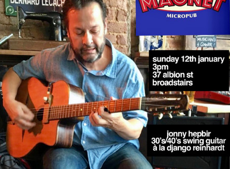 Acoustic Jazz Band Hire In Kent | Jonny Hepbir Gypsy Jazz Guitarist In Broadstairs Kent 12th January