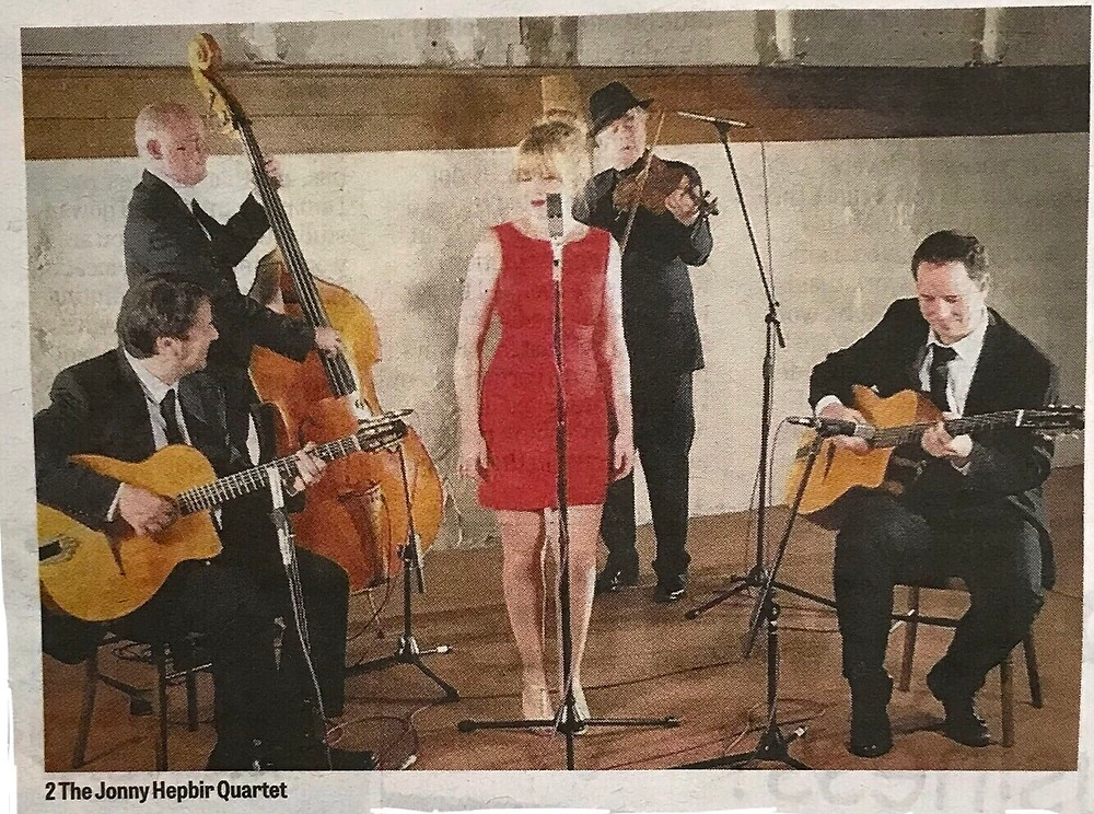 Jonny Hepbir Parisian Swing Quartet At Steyning Jazz Club West Sussex