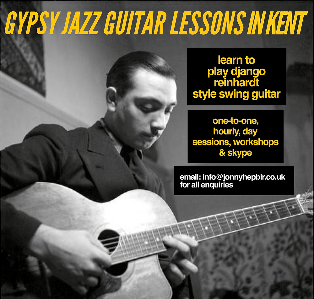 Gypsy Jazz Guitar Lessons In Kent With Jonny Hepbir