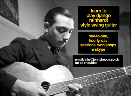 Gypsy Jazz Guitar Lessons In Kent | Jonny Hepbir Teaches Gypsy Jazz Guitar