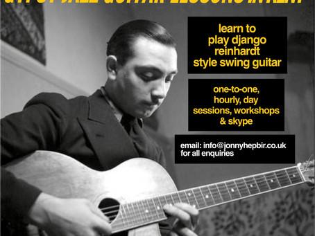 Gypsy Jazz Guitar Lessons In Kent | Jonny Hepbir Teaches Gypsy Jazz Guitar