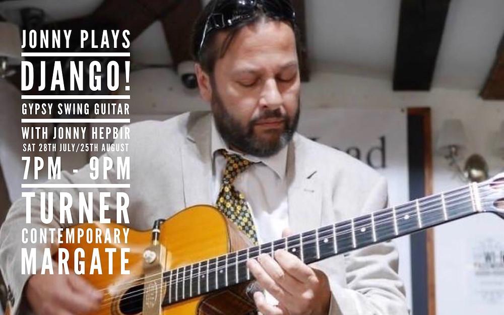 Jonny Hepbir Gypsy Jazz Guitarist At Turner Contemporary In Margate Kent