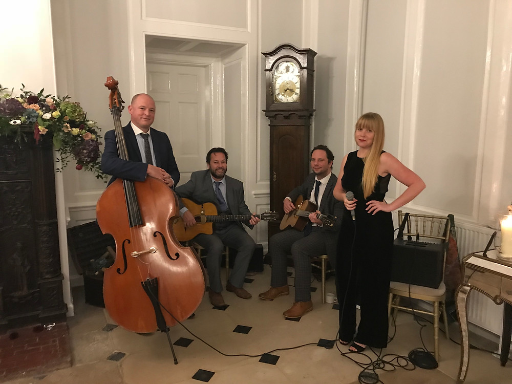 Jonny Hepbir Parisian Swing Quartet Wedding At Hutton Hall Essex