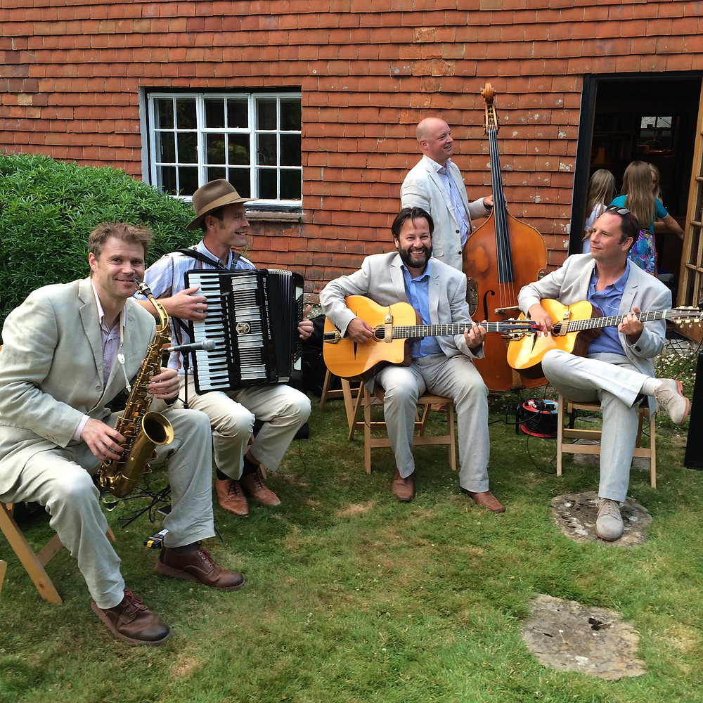 Jonny Hepbir Quintet at a 50th Birthday Party in Midhurst, West Sussex