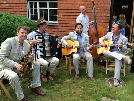 West Sussex Jazz Band Hire | Jonny Hepbir Quintet At A Birthday Party Celebration In Midhurst