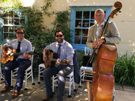 Book A Wedding Band For 2020 In Kent | Jonny Hepbir Gypsy Jazz Trio
