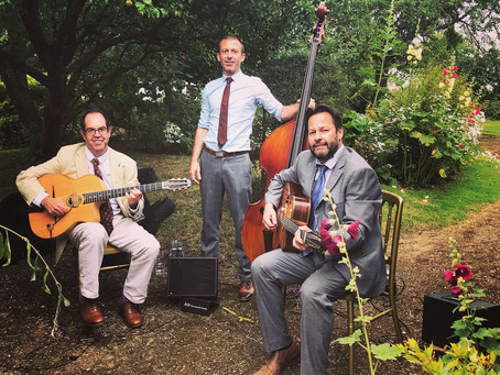 Book A Gypsy Jazz Band In Essex | Jonny Hepbir Trio Play A Wedding Reception In Wormingford
