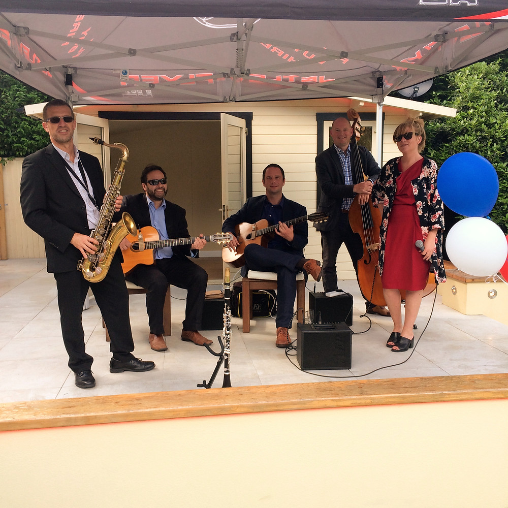 Jonny Hepbir Gypsy Jazz Quintet At A Birthday Party In Orpington Kent