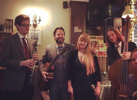 Wedding Band Hire In London | Jonny Hepbir Gypsy Jazz Quintet At Franklins Restaurant Dulwich