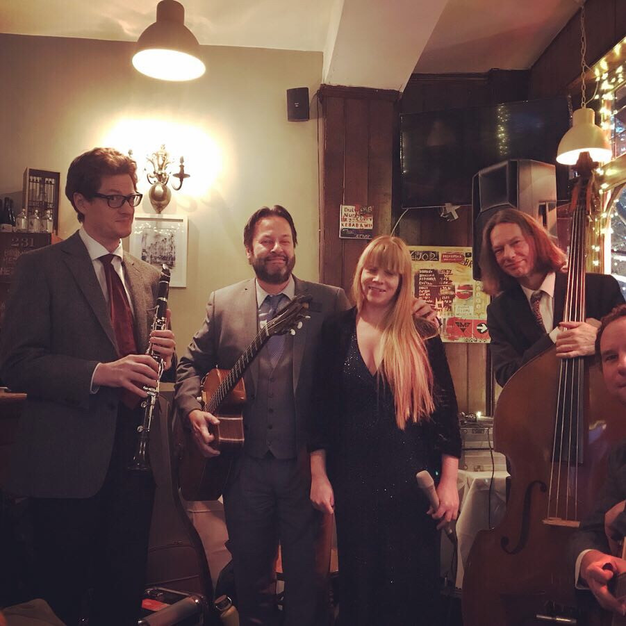 Jonny Hepbir Gypsy Jazz Quintet Play A Wedding At Franklins Restaurant In London