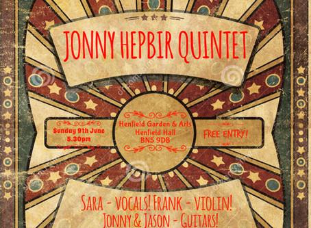 Jonny Hepbir Gypsy Jazz Quintet & Trio Performances On Sunday 9th June 2019 In Sussex