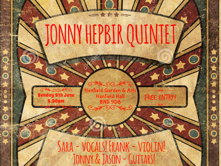 Jonny Hepbir Gypsy Jazz Quintet & Trio Performances On Sunday 9th June 2019 In Sussex