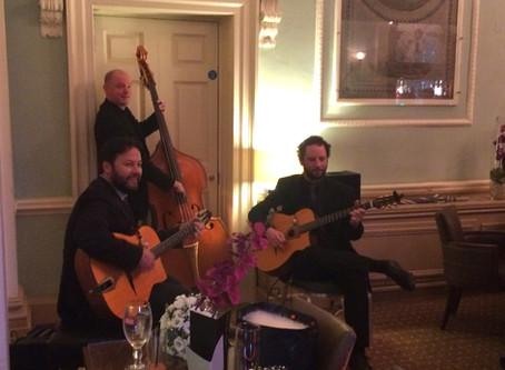 Surrey Gypsy Jazz Band Hire | Jonny Hepbir Gypsy Jazz Trio Play A Wedding At Wotton House Dorking