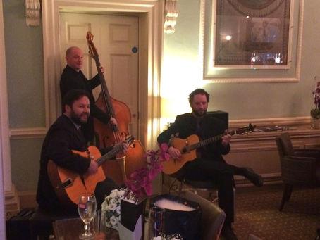 Surrey Gypsy Jazz Band Hire   Jonny Hepbir Gypsy Jazz Trio Play A Wedding At Wotton House Dorking