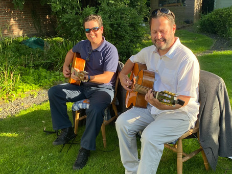 Jonny Hepbir Gypsy Jazz Duo Play At A Garden Party In Sandwich Kent | Hire The Jonny Hepbir Duo