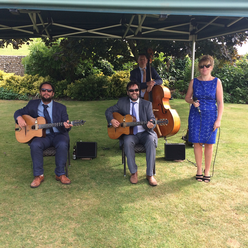 Jonny Hepbir Swing Quartet Wedding At Pangdean Barn Brighton East Sussex