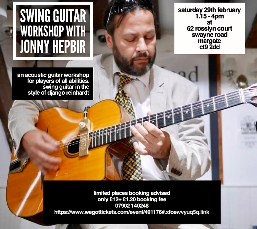 Swing Guitar Workshop With Jonny Hepbir At Rosslyn Court In Margate Kent