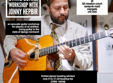 Swing Guitar Workshop At Rosslyn Court In Margate | Learn To Play Django Reinhardt Style Guitar