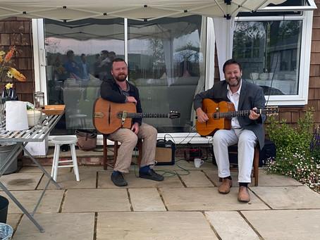 Jonny Hepbir Gypsy Jazz Duo Play A Birthday Celebration In Bilsington Kent | Gypsy Jazz Band Hire