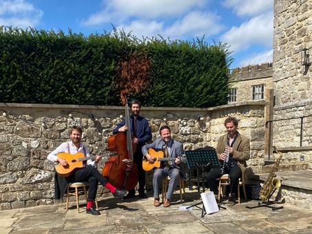 Acoustic Swing Jazz For A Wedding At Leeds Castle In Kent | Hire The Jonny Hepbir Quartet For Events