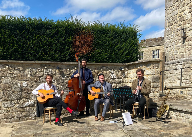 Acoustic Swing Jazz For A Wedding At Leeds Castle In Kent   Hire The Jonny Hepbir Quartet For Events