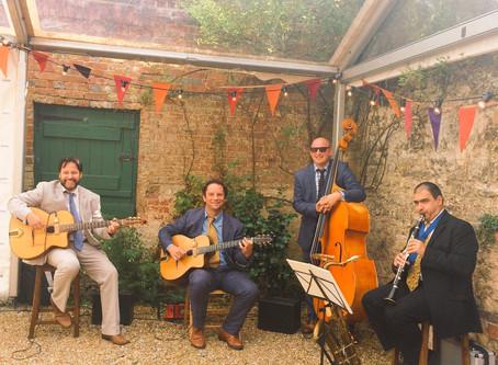 West Sussex Wedding Band Hire | Jonny Hepbir Jazz Quartet  Wedding At Bignor Park Pulborough