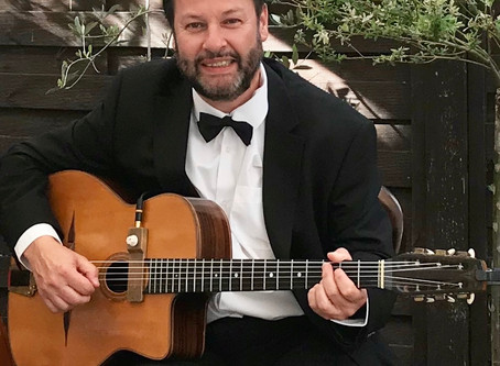 Hire A Solo Guitarist For A Small Wedding Or Event In Kent | Jonny Hepbir Gypsy Jazz Guitarist