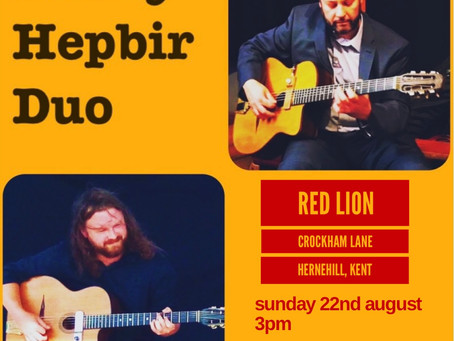 Jonny Hepbir Duo At The Red Lion Hernhill Kent 22nd August 3pm   Hire A Gypsy Jazz Duo For An Event