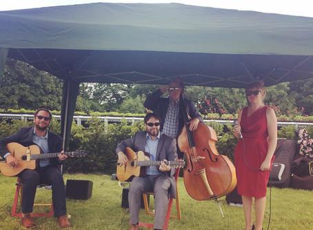 Jonny Hepbir Gypsy Jazz Quartet At GreyFriars Vineyard Near Guildford To Celebrate Wine Cave Opening