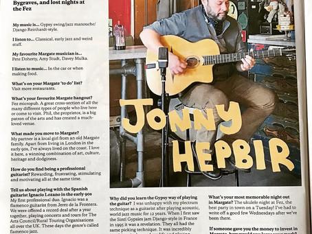 Interview With Gypsy Jazz Guitarist Jonny Hepbir In Margate Mercury