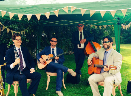 Book A Jazz Band For A Wedding in 2020 | Jonny Hepbir Acoustic Gypsy Jazz Band Hire In Kent & Sussex