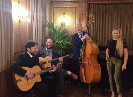 Acoustic Jazz Band Hire In London | Jonny Hepbir Quartet Wedding At Burgh House In Hampstead