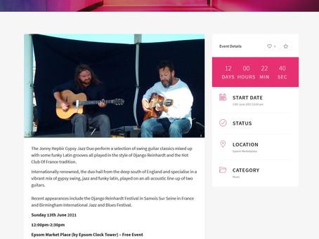 Jonny Hepbir Gypsy Jazz Duo Live In Epsom 13th June 12pm | Hire The Jonny Hepbir Duo In Surrey
